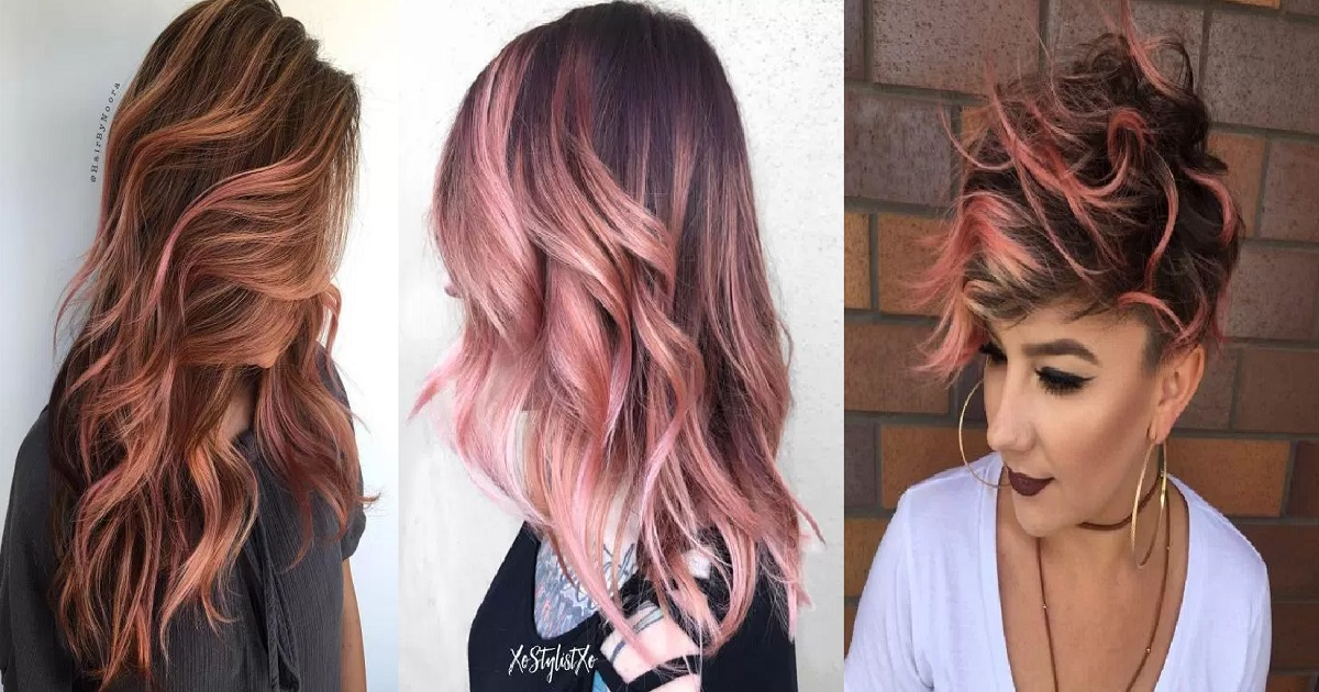 18 Gorgeous Examples of Rose Gold Balayage