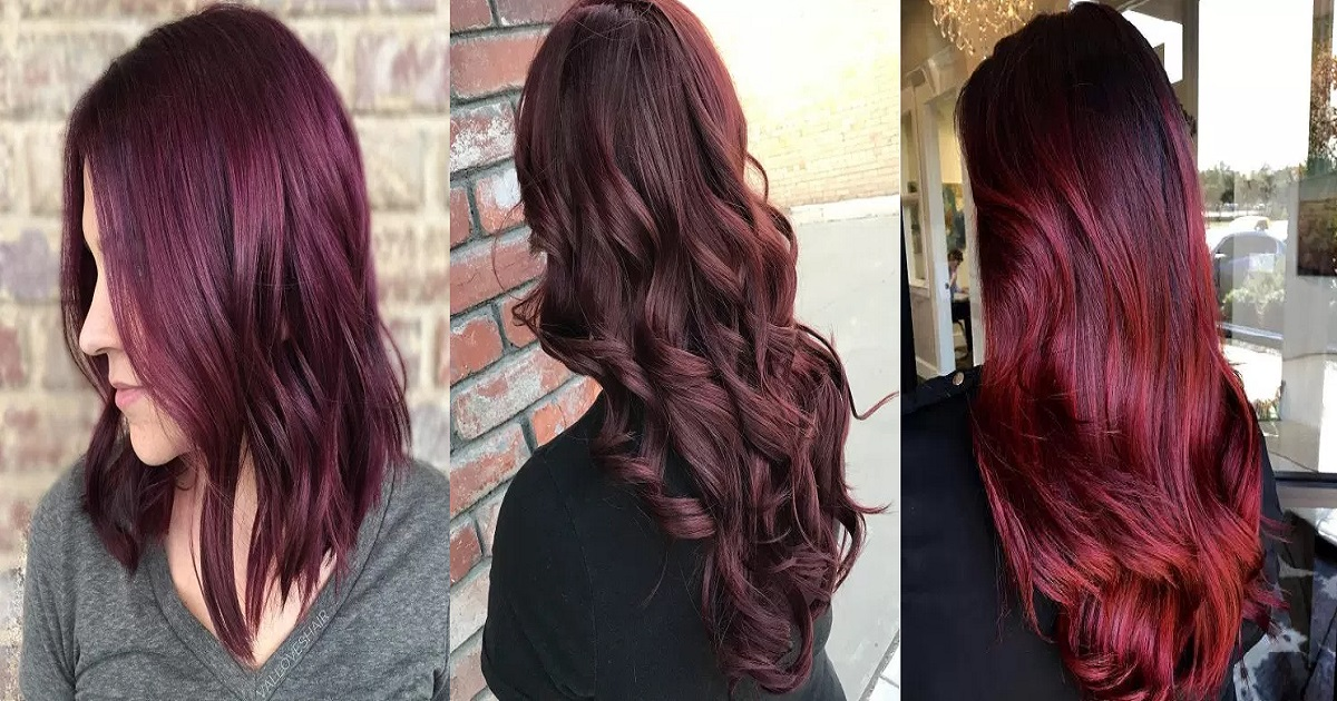 26 Shades Of Burgundy Hair Dark Red Maroon And Red Wine Hair Color