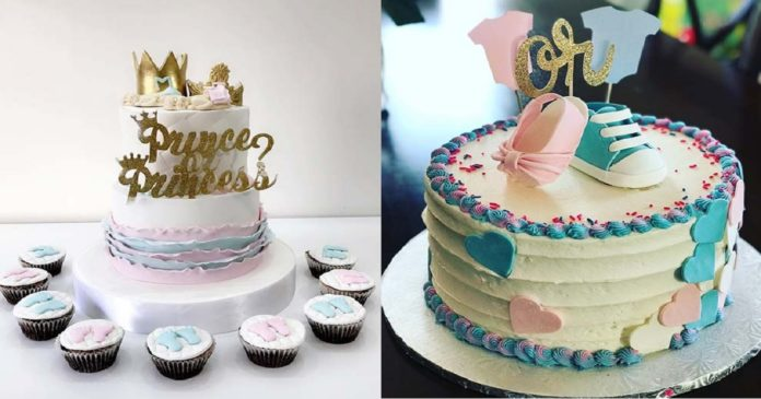 21-Cute-and-Fun-Gender-Reveal-Cake-Ideas