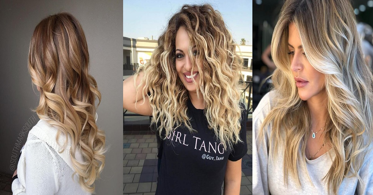 24 Bombshell Blonde Balayage Hairstyles That Are Cute And