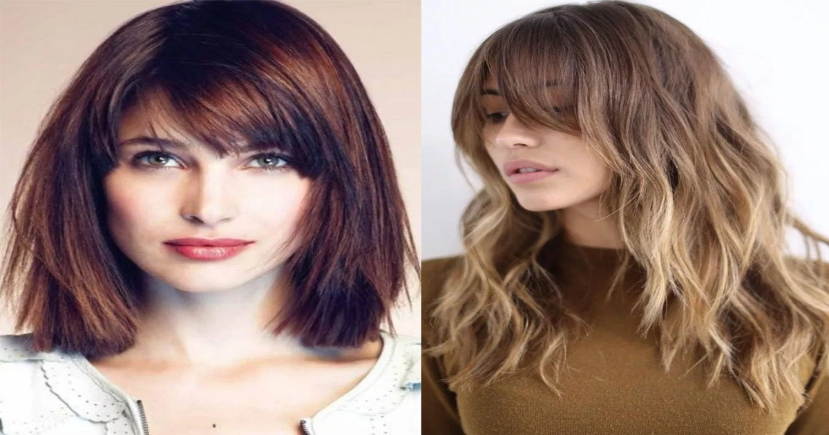 Latest Medium Hairstyles With Bangs For Women