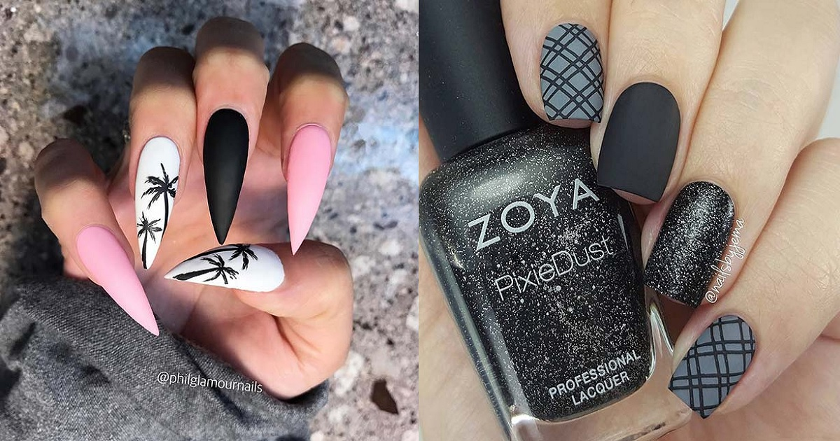 21 Edgy Matte Black Nails To Inspire You Hairslondon