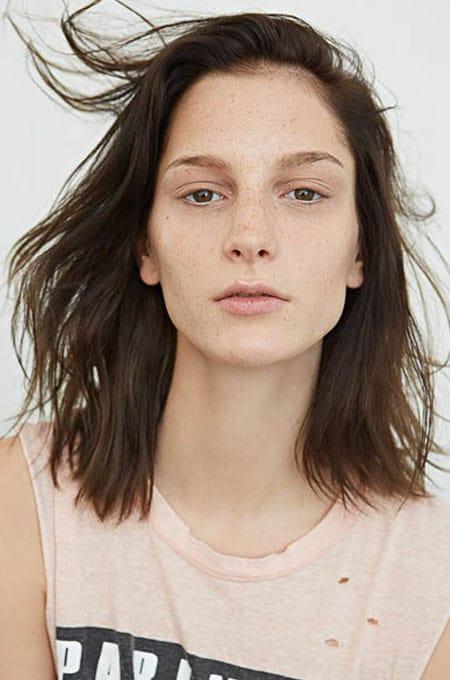 10. Choppy Lob Haircut
