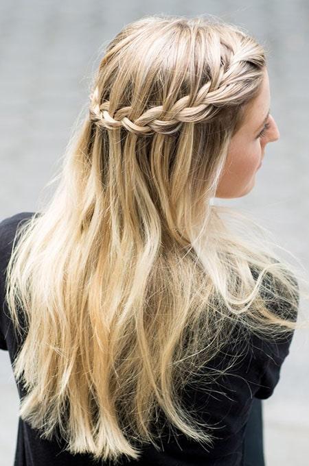 14. Waterfall Braid Hairstyle