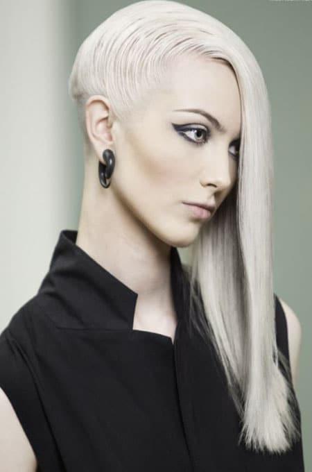 15. Long Hair with Nape Undercut