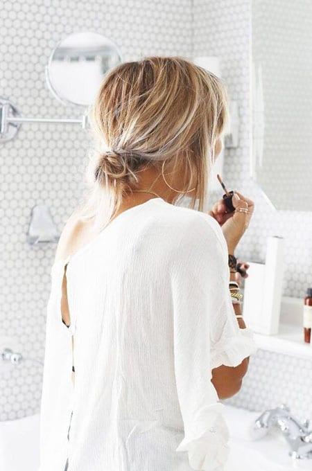 3. Low Bun Hairstyle
