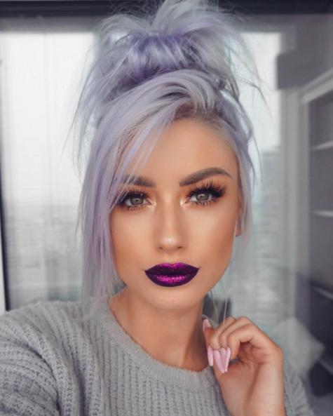 30 Lavender Hair Ideas 25