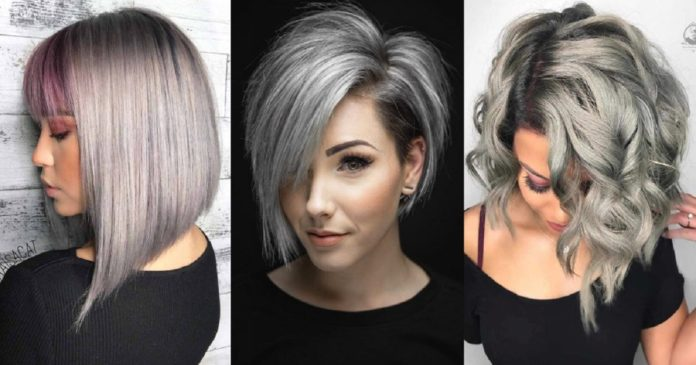 33 COOL WAYS HOW TO WEAR YOUR SHORT GREY HAIR