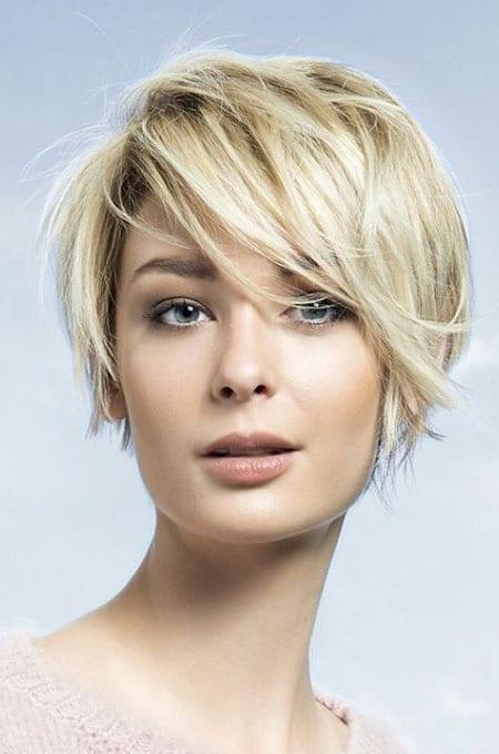 5. Choppy Crop for Thin Hair