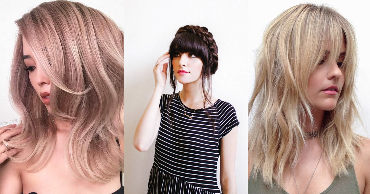 Stunning Ideas Of Medium Length Hairstyles With Bangs Hairs London
