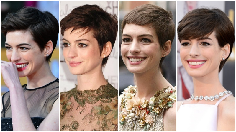 Anne Hathaway Pixie Cut Hairs London