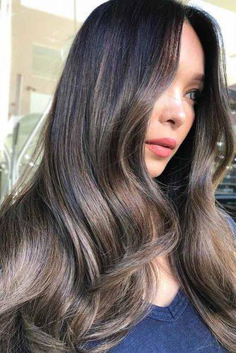 Ash Shades For Long Dark Brown Hair #brownhair #brunette