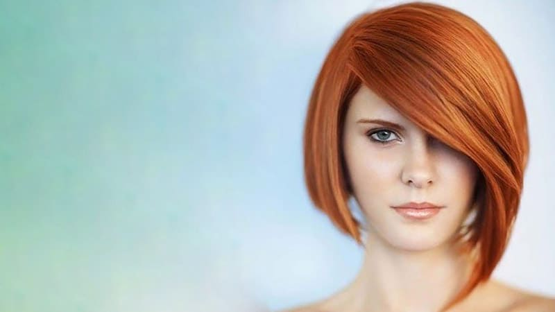 Asymmetrical Bob With Side Bangs