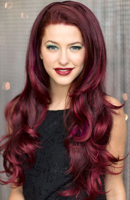 Aubergine Red Hair Color