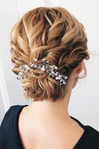 Auburn Updo Hairstyles With Accessories #shorthairstyles #christmashairstyles #hairstyles #updohairstyles
