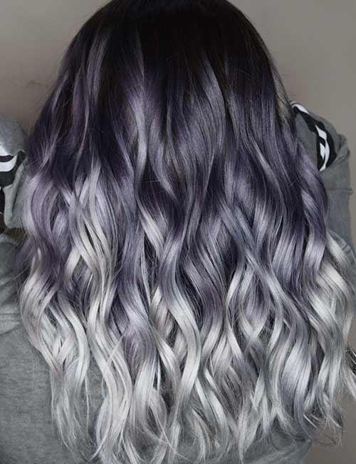 Black-Purple-Silver