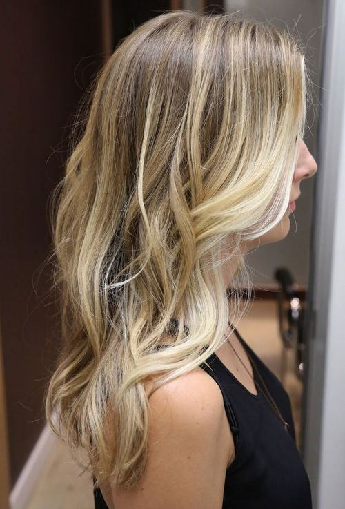 blonde balayage fine hair