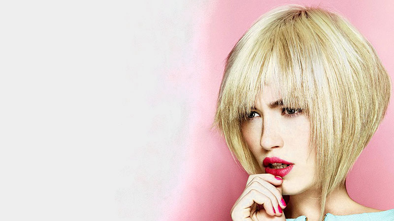 Blonde Inverted Bob Hairstyle