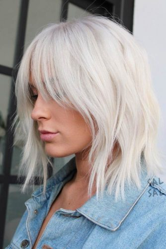 Stunning Ideas Of Medium Length Hairstyles With Bangs