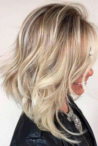 Blonde Stacked Shag Haircut #shaghaircut #haircuts #bobhaircut #mediumhair