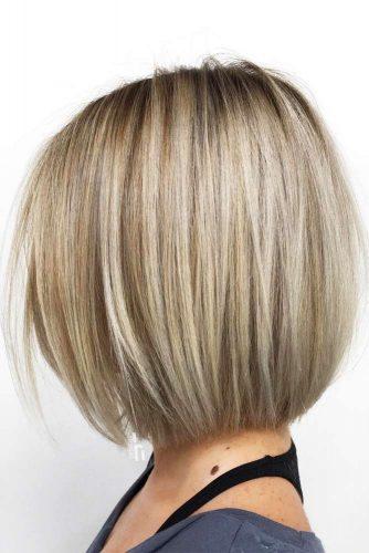 Blonde Straight Popular Medium Bob #mediumbob #haircuts #bobhaircuts #straighthair #blondehair