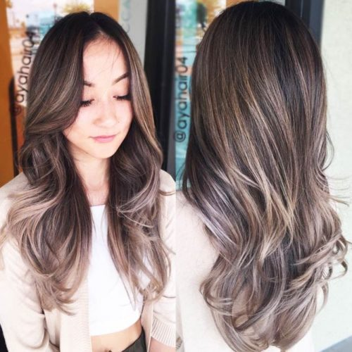 Bold Long Hair With Smokey Highlights #brownhair #brunette #highlights