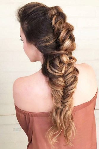 Braided Mohawk Hairstyle With Weave #wavyhair #longhair #braids #fauxhawk