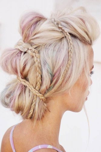 Braided Mohawk Updo #mohawk #braids