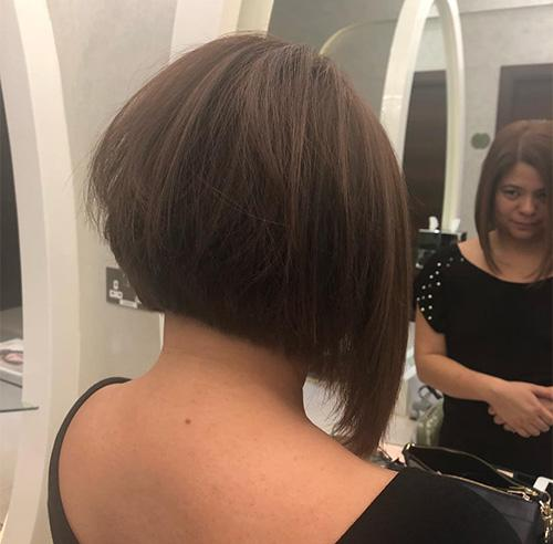Brown Disconnected Inverted Bob