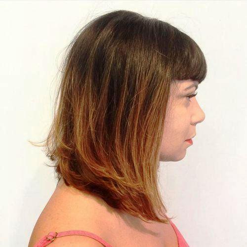 Brown Haircut with Bangs and Flicks