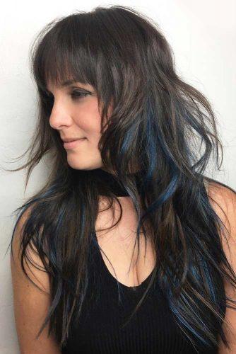 Brunette Messy Bedhead Long Shag #shaghaircut #haircuts #longhair