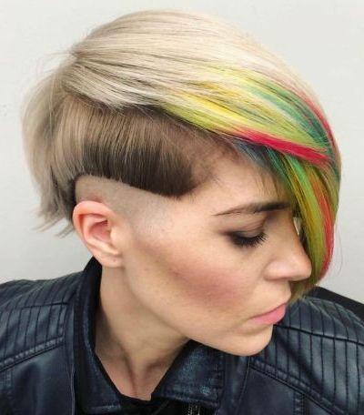 Creative shaved haircut