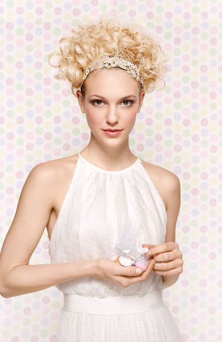 Curly Updo with Headband