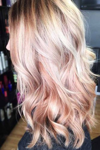 Cute Dirty Strawberry Blonde Hair #wavyhair #blondehair #highlights