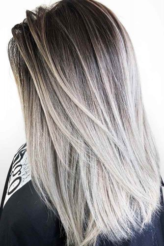 Dark Ash Brown And Cool Dirty Blonde Hair #brunette #blondehair #ombre