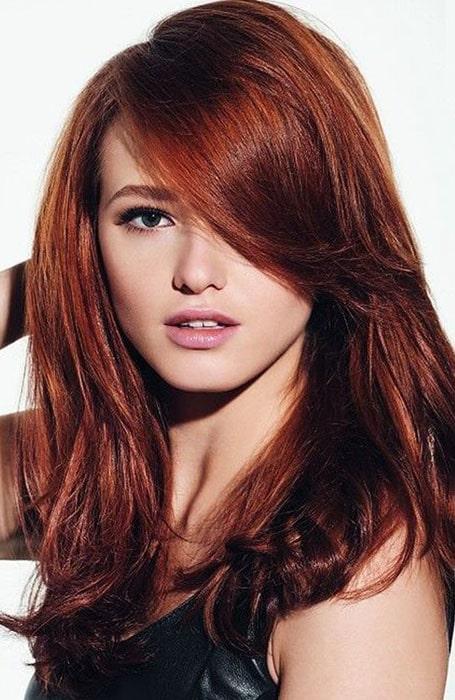 Dark Brown Red Hair Color