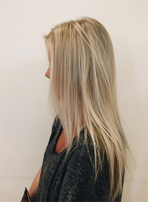 Dirty Blonde Hair Shades - Champagne Dirty Blonde With Highlights