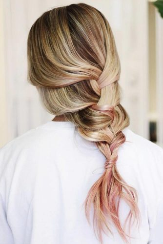 Dirty Blonde Hair With Pink Highlights #blondehair #pinkhair #highlights #braids