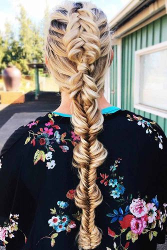 Dutch Fishtail Mohawk Braid #longhair #braids #fauxhawk