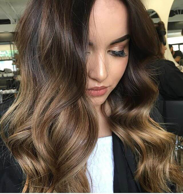 Elegant Hollywood Glamor Curls For Long Dark Hair