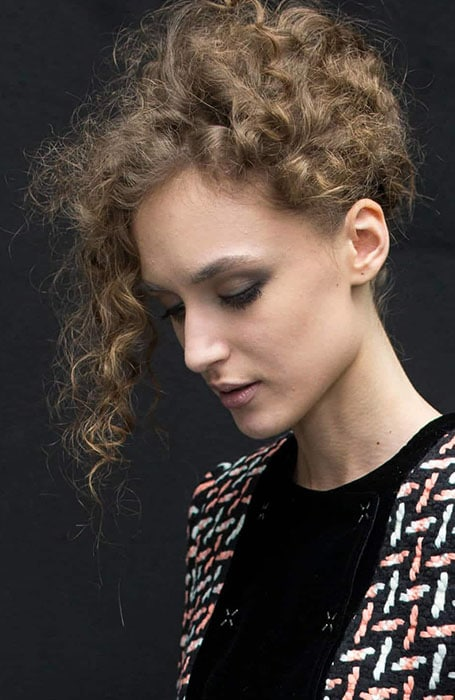 Ethereal Short Curly Updo