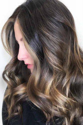 Face Framing Highlights For Long Dark Ash Hair #brownhair #brunette #highlights