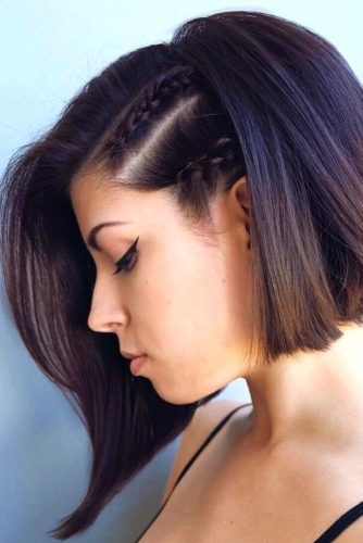 Faux Side Shave for Asymmetrical Haircut