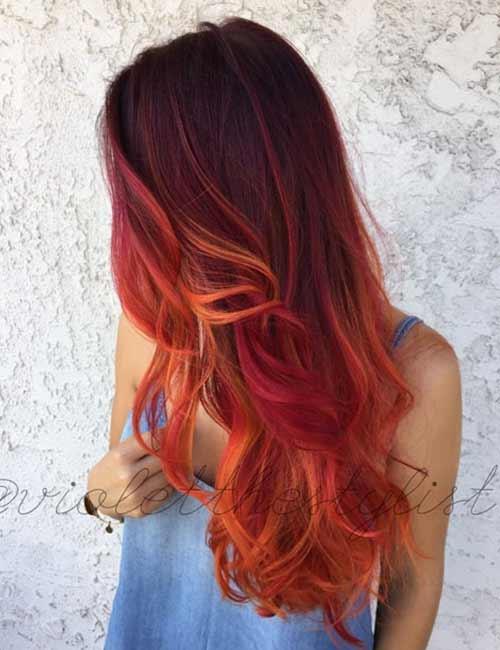 Fiery Phoenix Hair