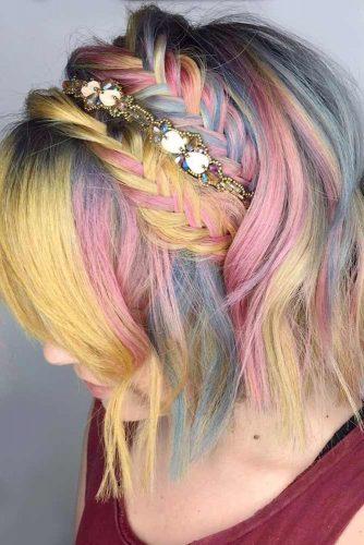Fishtail Headband Braids for Unicorn Hair