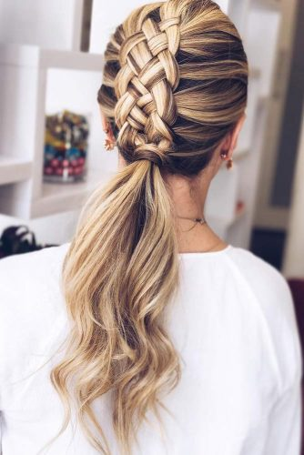 Four Strand Braid Into Ponytail #mohawk #braids #ponytail