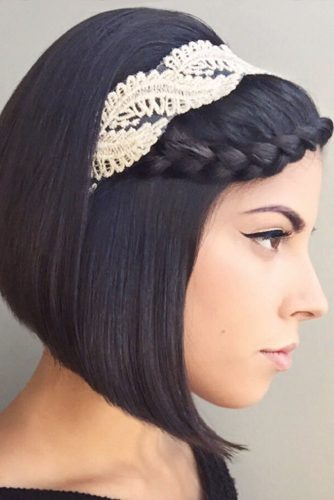 French Lace Braid for with Headband