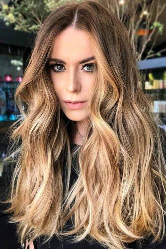 Golden Highlights #brownhair #blondehair #highlights