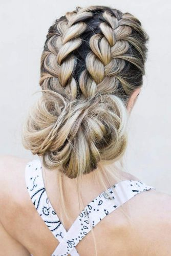Gorgeous Ideas To Update French Braid Styles Bun #updo #braids