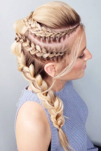 Gorgeous Ideas To Update French Braid Styles Fauxhawk #fauxhawk #braids